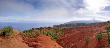 La Gomera - schleppen Sie kurz vor Mirador de Abrante Lizenzfreie Stockbilder