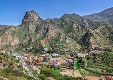 La Gomera - Vallehermoso con Roque El Cano Imágenes de archivo libres de regalías