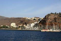 La Gomera van San Sebastian DE van de haven royalty-vrije stock foto