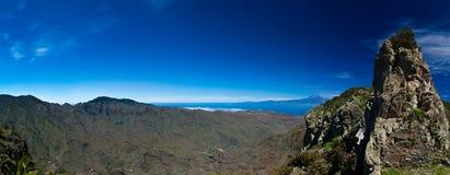 La Gomera, veiw towards Teide Royalty Free Stock Photography