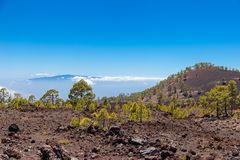 La Gomera view from Tenerife royalty free stock image