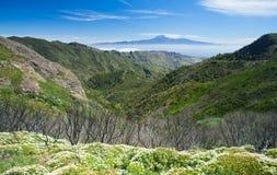 La Gomera, view towards Teide Stock Photos