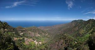 La Gomera - vista panorámica al valle de Epina Fotos de archivo