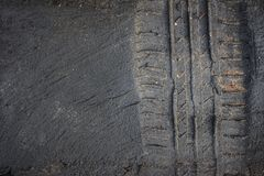 la gomma segue il camion su un fango Immagine Stock Libera da Diritti