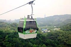 La gondole de Maokong dans Taibei, Taïwan Images libres de droits