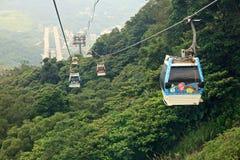 La gondole de Maokong dans Taibei, Taïwan Images stock
