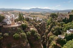 La gorge à Ronda, Andalousie, Espagne Photos stock