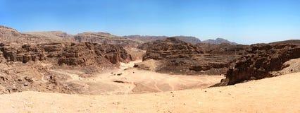 La gorge colorée, Egypte. Panorama. Photographie stock libre de droits
