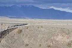 La gorge de Rio Grande, Nouveau Mexique Photo stock