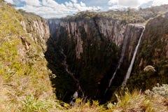 La gorge Rio Grande d'Itaimbezinho font Sul Brésil Images libres de droits