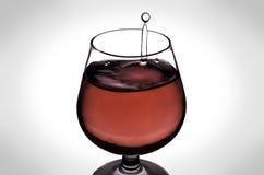 La goutte de l'eau en vin Images stock