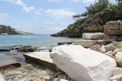 La Grèce, île de marbre de Thassos Images libres de droits