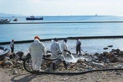 La Grèce Île des salamis 5 novembre 2017 Les travailleurs continuent à Photographie stock libre de droits