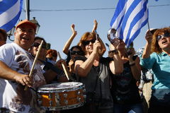La Grèce, Athènes, 18 octobre 2012 Photos libres de droits