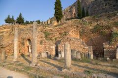 La Grèce. Delphes. Ruines Images stock