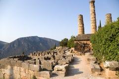 La Grèce. Delphes. Ruines Photographie stock libre de droits