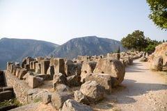 La Grèce. Delphes. Ruines Images libres de droits