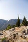 La Grèce. Delphes. Ruines antiques Photo stock