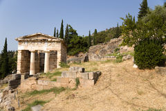 La Grèce. Delphes. Trésor d'Athènes Images stock