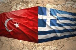 La Grèce et la Turquie Photographie stock