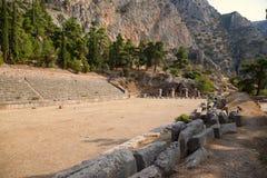 La Grèce. Le stade à Delphes (5ème siècle AVANT JÉSUS CHRIST) Photos libres de droits