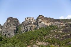 La Grèce, Meteora. Le monastère saint de Varlaam Photo stock