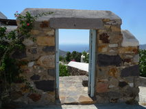 La Grèce Mykonos d'une photo merveilleuse de vacances Images libres de droits