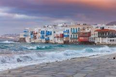 La Grèce Mykonos Peu de Venise Images libres de droits