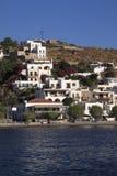 La Grèce, Patmos Skala Images libres de droits