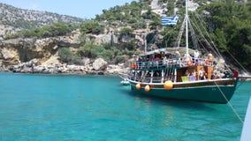 La Grèce pirate des vacances de bateau en Grèce images libres de droits