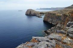 La Grèce, Rhodes Belles vues Mer et montagne Image stock