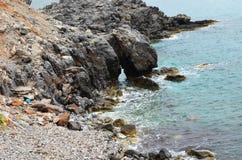 La Grèce, Rhodes Belles vues Mer et montagne Images libres de droits