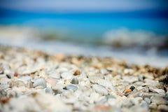 La Grèce, Rhodes, mer, pierres Photos stock