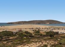 La Grèce rhodes Prassonisi le baiser de deux mers Image libre de droits
