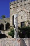 La Grèce, Rhodes.Wall de ville antique Image stock