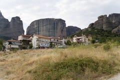 La Grèce. Roches de Kalambaka et de Meteora Photographie stock