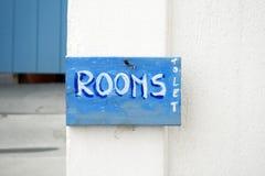 La Grèce - salles de laisser le signe Photo libre de droits