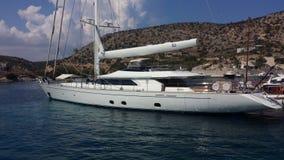 La Grèce Shinoussa Port initialisation Limany Été 2018 photographie stock libre de droits