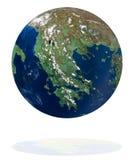 La Grèce sur la planète de la terre illustration stock