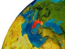 La Grèce sur le globe Photo stock