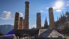 La Grèce, temple d'Apollo photo stock