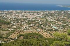 La Grèce La ville d'Ialyssos au pied de Filerimos photos stock