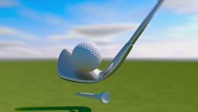 La grève 3d de golf de mouvement lent rendent illustration libre de droits