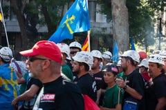 La grève des mineurs Photo stock