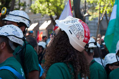 La grève des mineurs Image stock