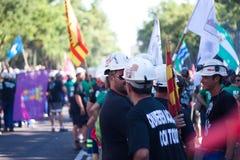 La grève des mineurs Photographie stock