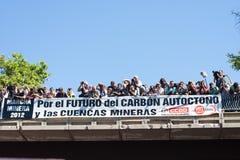 La grève des mineurs Photographie stock libre de droits