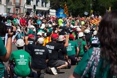 La grève des mineurs Images libres de droits