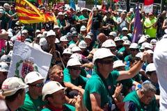 La grève des mineurs Photo libre de droits