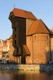 La grúa en Gdansk Imagen de archivo libre de regalías